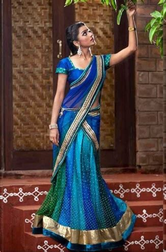 half saree style draping half admiration other half adulation make a style