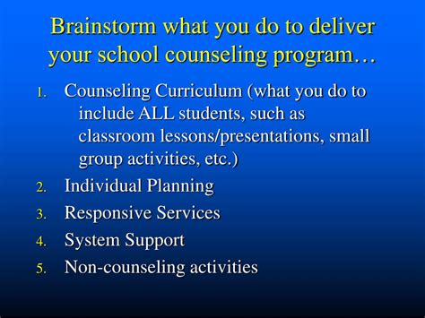 what do school counselors do ppt writing your school counseling curriculum powerpoint
