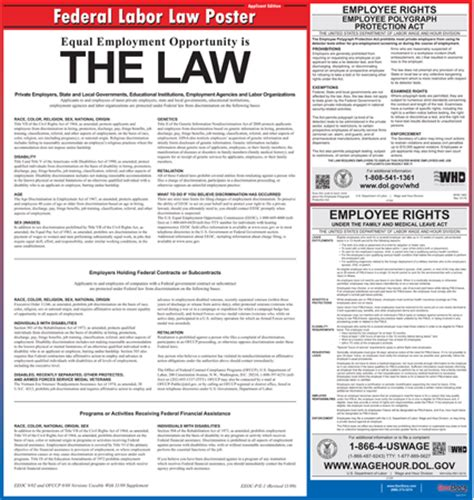 printable federal labor laws poster whistleblower hotline