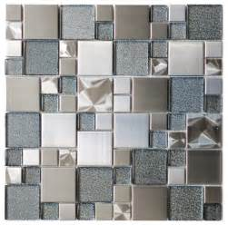 Sparkling mosaic tile for wall decoration with 3d surfaces