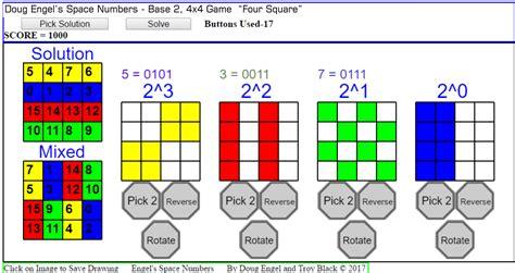 pattern numbers games hexa30 hexa36a zerosum4x4 bicube