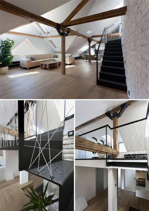barandillas de escaleras interiores barandillas de cuerda para escaleras de estilo moderno