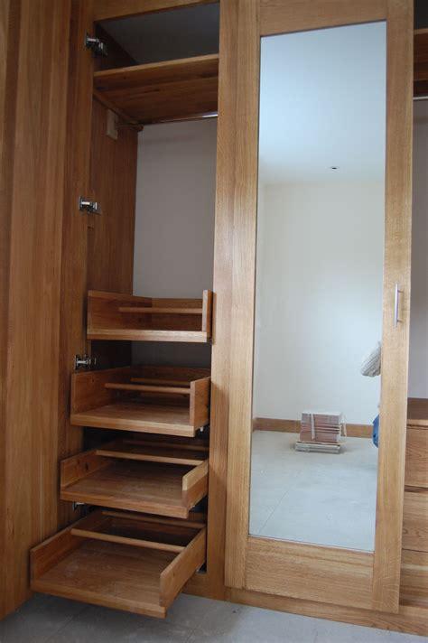 sliding drawers inside wardrobe diy