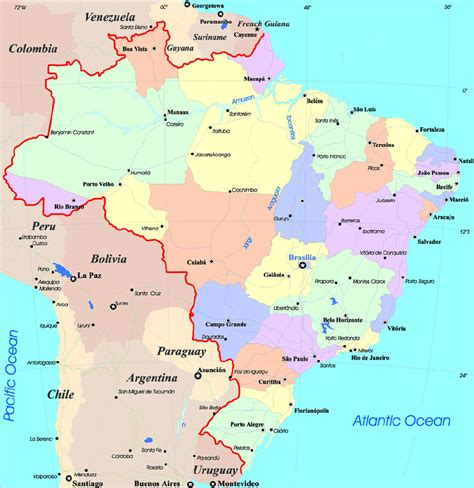 brazil city map maps of brazil map library maps of the world