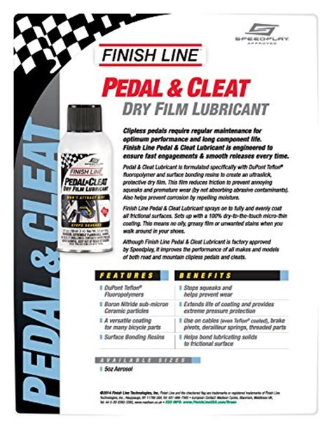Finish Line Pedal Cleat Lubricant finish line pedal and cleat lubricant aerosol