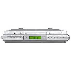 sony under cabinet kitchen icf cdk50 cd clock radio sony icf cdk50 slim under cabinet fm am cd kitchen clock radio