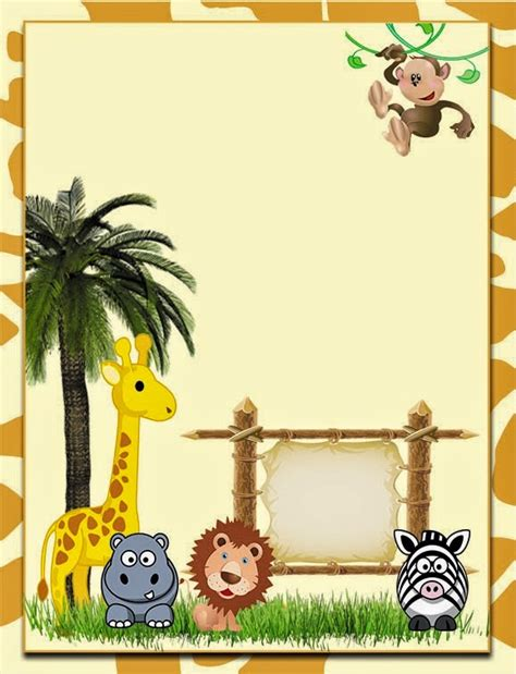 free printable jungle stationary cute the jungle free printable invitations labels or