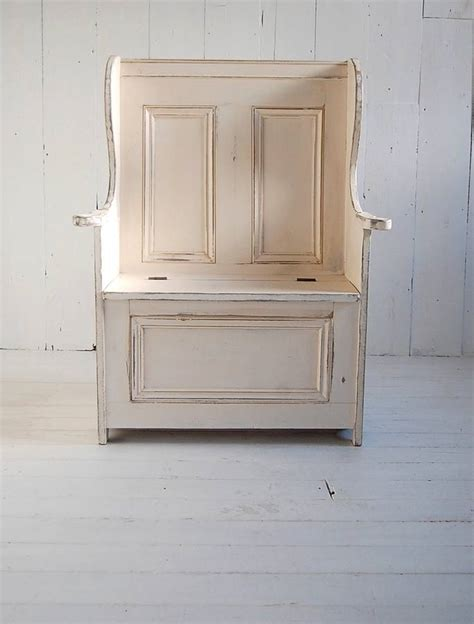 settle bench painted settle bench chair by eastburn country furniture