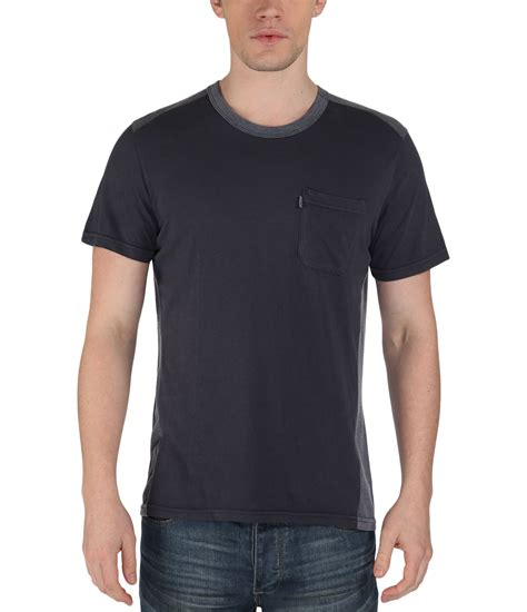 bench plain shirts bench jolter plain crew neck regular fit t shirt in blue