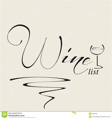 cover for wine list royalty free stock image image 32858186