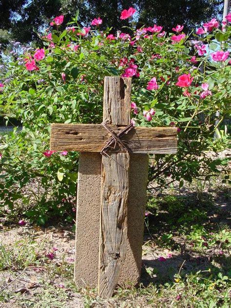 Garden With Cross Rustic Wood Cross For Indoors Outdoors Weddings Prayer