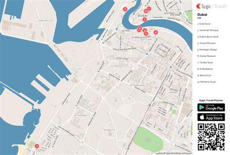 printable dubai road map dubai printable tourist map sygic travel