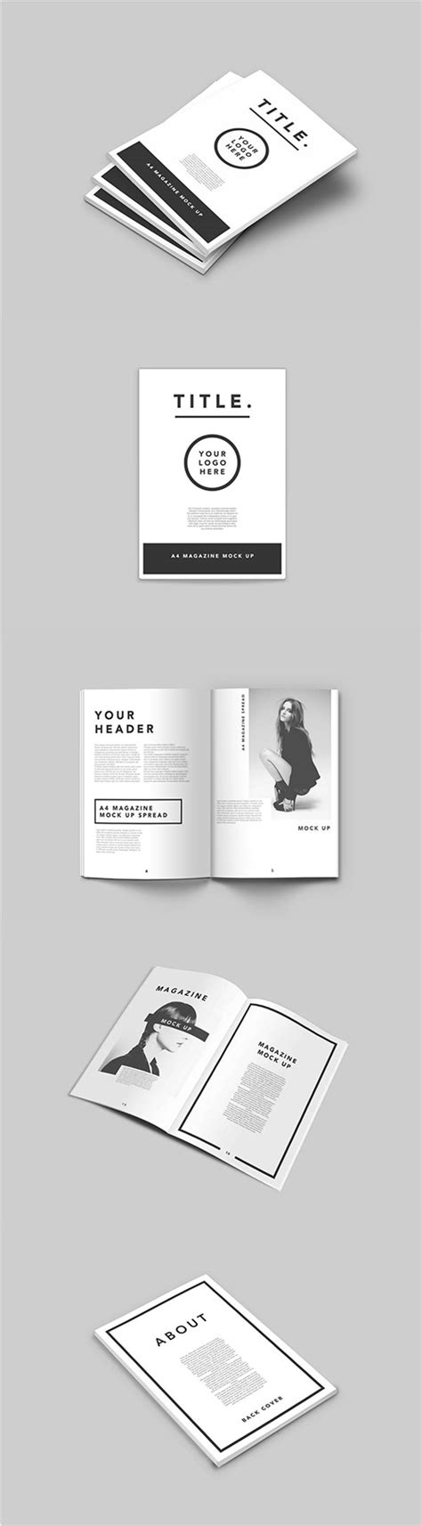 75 Free Psd Magazine Book Cover Brochure Mock Ups Magazine Cover Mockup Template