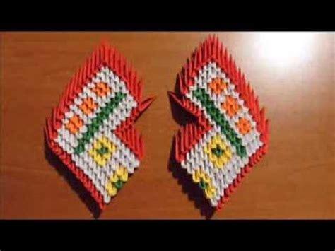 3d origami mini peacock tutorial origami 3d cigno rosso youtube