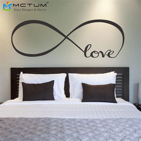 love wall decor bedroom love infinity symbol bedroom personalized vinyl wallpaper