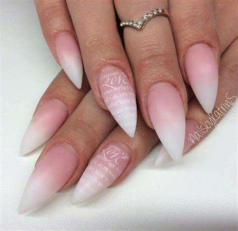 how to do ombre stiletto nail stiletto white ombre nails nail design pinterest