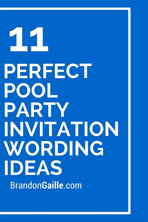 pool birthday party invitation best party ideas