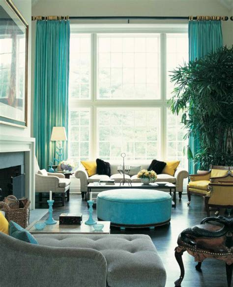 Turquoise Living Room Curtains Designs with 26 Amazing Living Room Color Schemes Decoholic