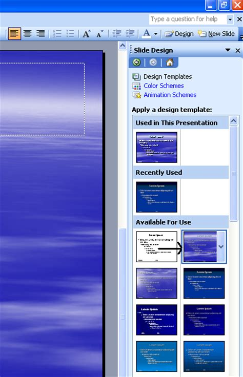 design templates in power point 2003 microsoft office