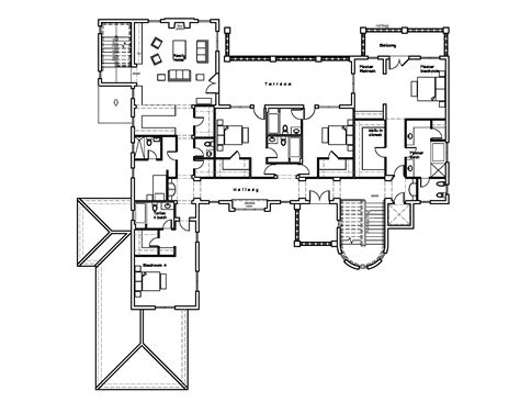 great house floor plans luxurious villa 67119gl architectural designs house plans
