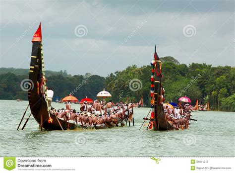dream boat race snake boat races of kerala editorial photography image