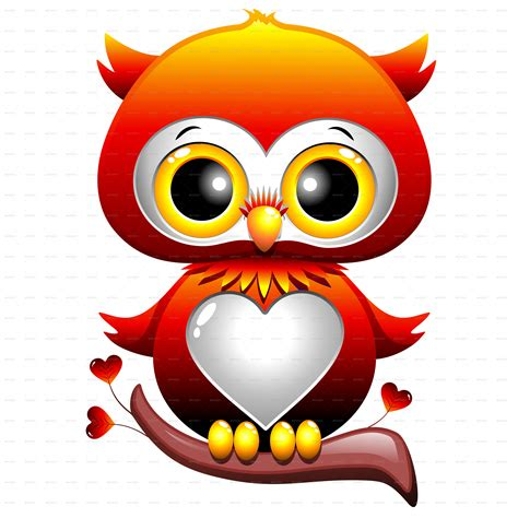 owl lover baby owl love heart cartoon by bluedarkat graphicriver
