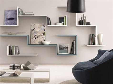 leonardo etagere wooden wall shelf zedline by euromobil