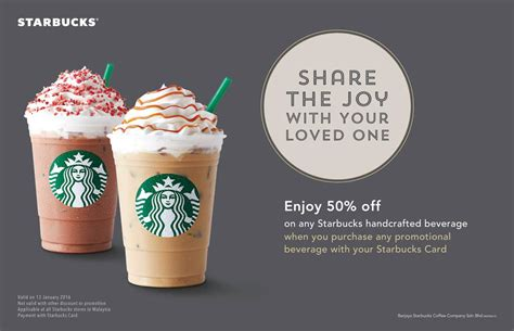 Handcrafted Beverage - bestlah starbucks enjoy 50 any handcrafted