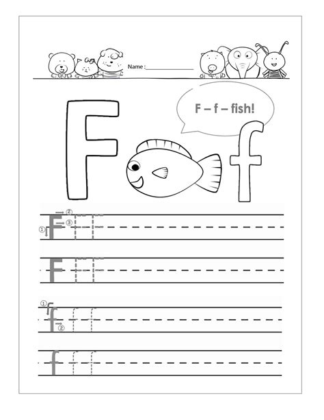printable worksheets letter f letter f worksheet to print loving printable