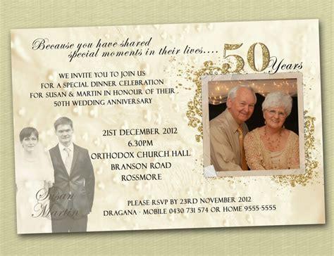 50th wedding anniversary reception invitations 50th wedding anniversary invitation templates wedding