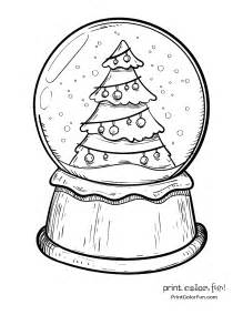 snow globe coloring page snow globe with a tree coloring page print