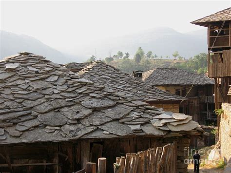 ancient roofs roofs of deserted ancient houses in bulgaria photograph by