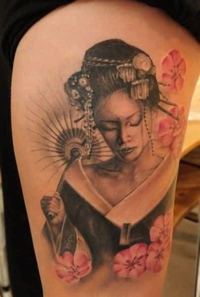 geisha tattoo calf tattoo ideas and tattoo designs tattooshunter com