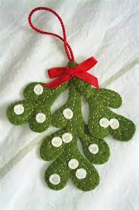 holiday christmas mistletoe decorationfelt by fraline on etsy