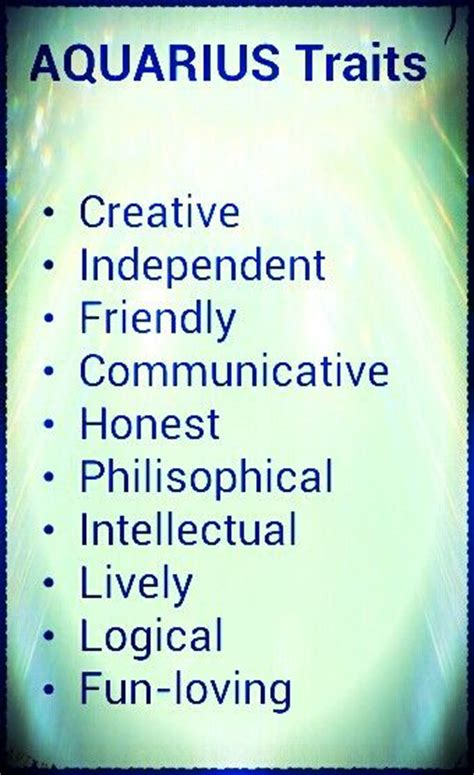 aquarius traits aquarius pinterest