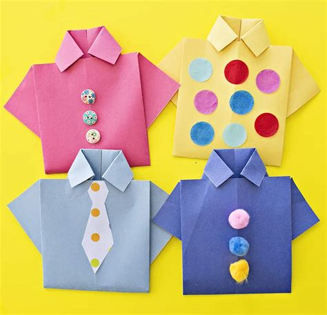 fathers day shirt easy origami shirt s day card
