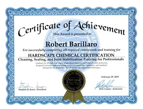 Or Certification Certifications And Licenses Premier Sealers