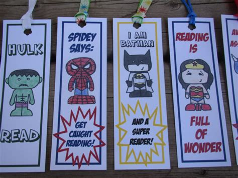 printable bookmarks superheroes spiderman bookmarks superhero instant download by creasestudio