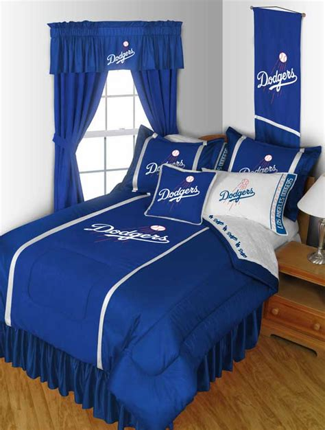 dodgers bed set los angeles dodgers bedding set mlb baseball comforter and