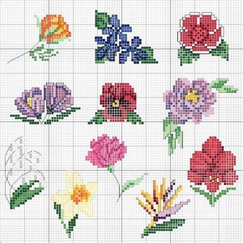 fiori piccoli punto croce piccoli fiori a punto croce punto croce