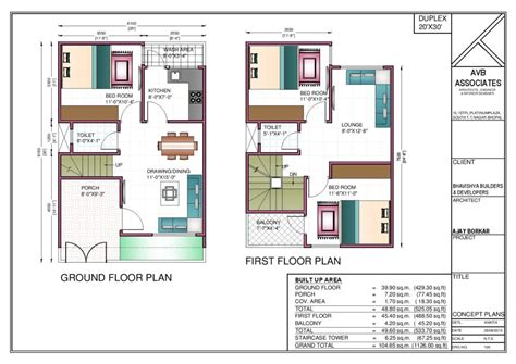 home planning 30 by 20 house plans