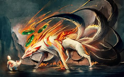 Anime 9 Tailed Fox by Digital Anime And Paintings By Sakimichan
