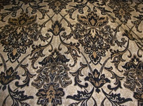 Black Chenille Upholstery Fabric chenille upholstery 57 quot wide black damask drapery fabric