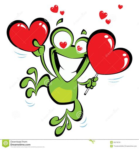 imagenes de jack movibles gekke kikker in liefde vector illustratie afbeelding