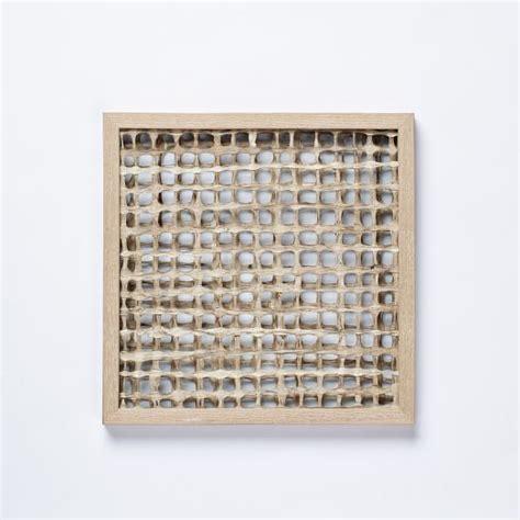 Handmade Paper Wall - handmade paper wall gridded west elm