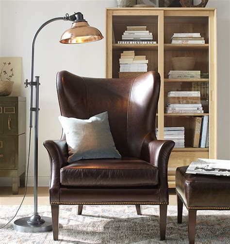 clinton modern wingback chair rejuvenation cozy home office featuring the carson floor l and