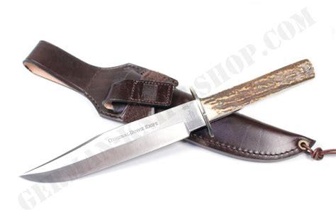 bowie pocket knife hubertus original bowie stag knife 440c german knife shop