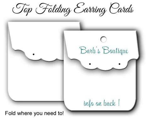 earring card template downloads custom earring card display 035 blank jewelry display