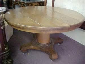 table tiger oak antique