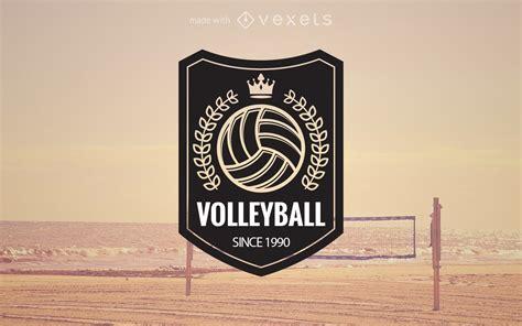 volleyball logo label maker editable design